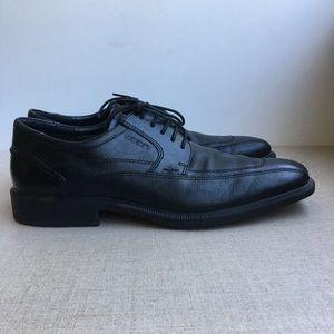 ECCO EU 43 Black Leather Lace-Up Oxford Shoes
